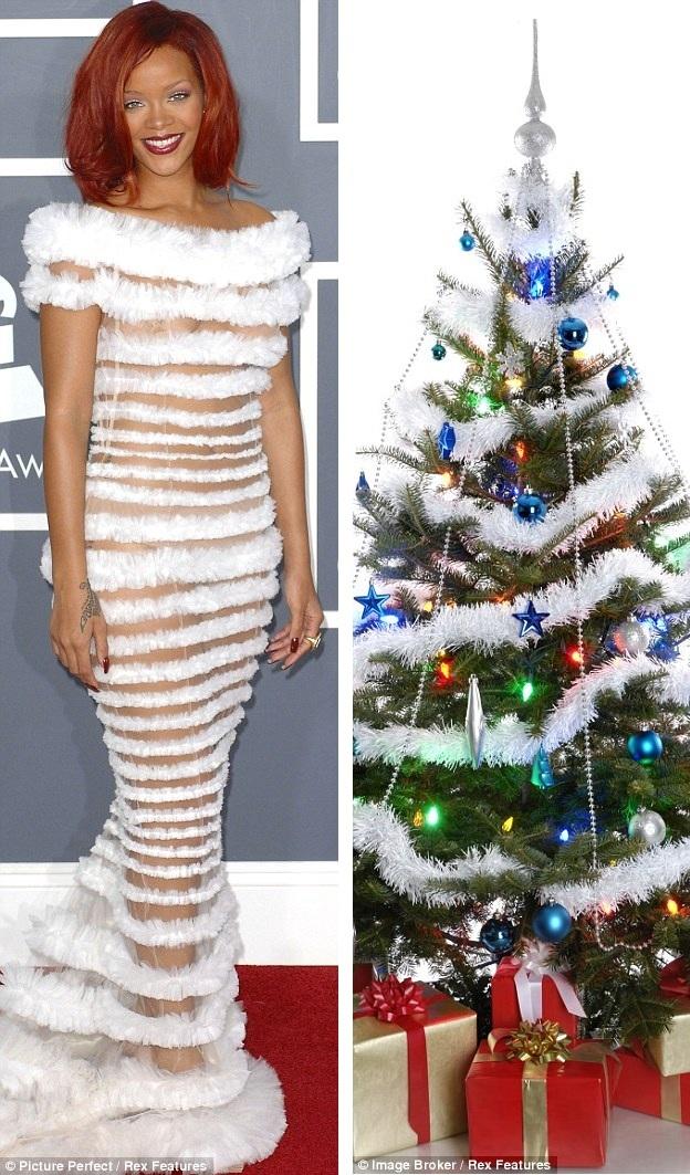 Рианна в платье на Новый Год