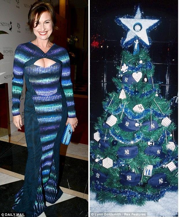 Английская телеведущая в платье на Новый год