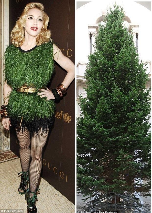 Мадонна в платье на Новый год