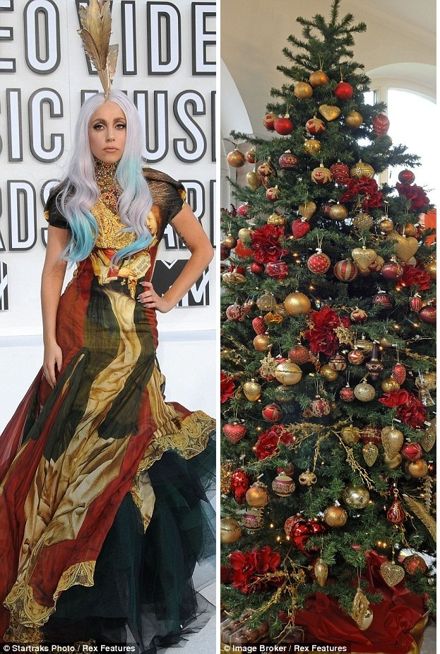 Новогоднее платье Lady Gaga
